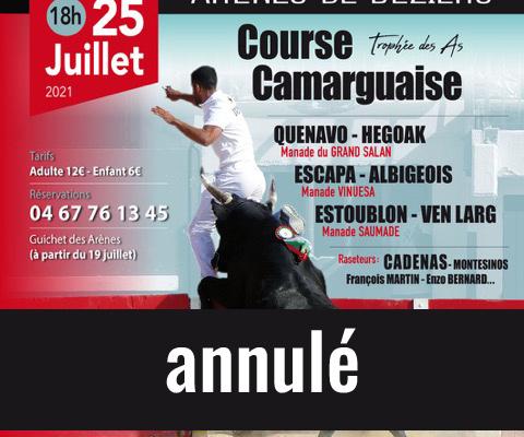 Course camarguaise Béziers 2021